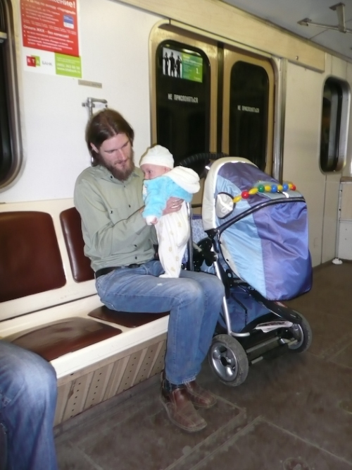 In the metro, on the way